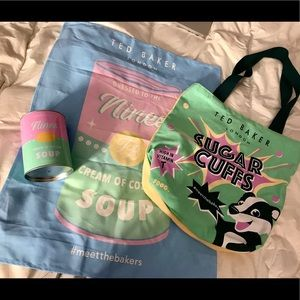 Ted Baker Bag, Can, and Poster Set.